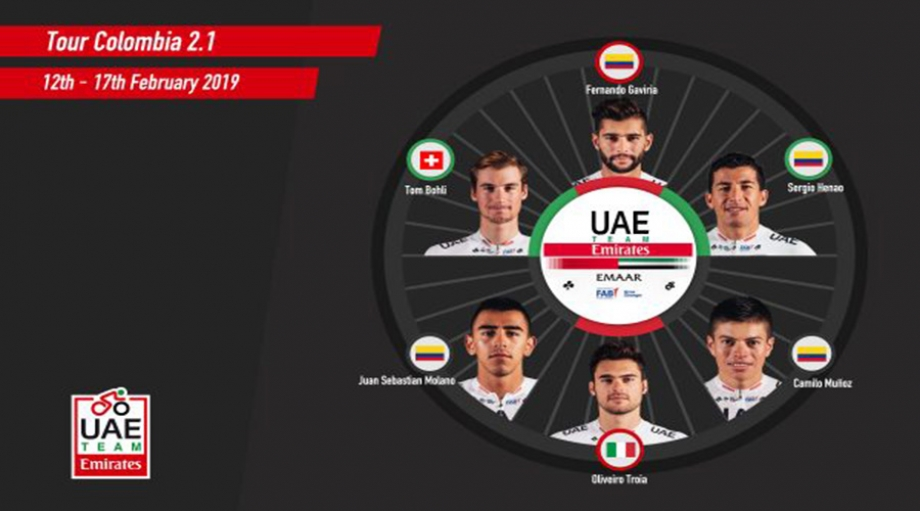 UAE Team Emirates spreman za Tour Colombia 2.1